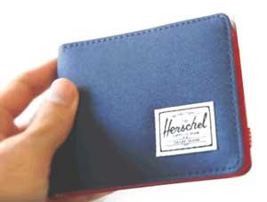 cartera herschel azul