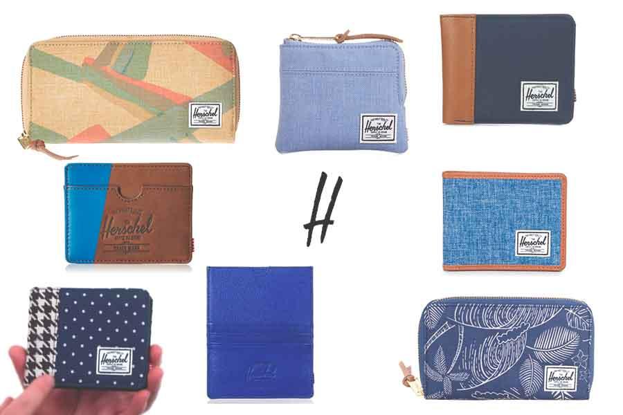 Carteras, monederos y tarjeteros Herschel de diferentes colores y modelos